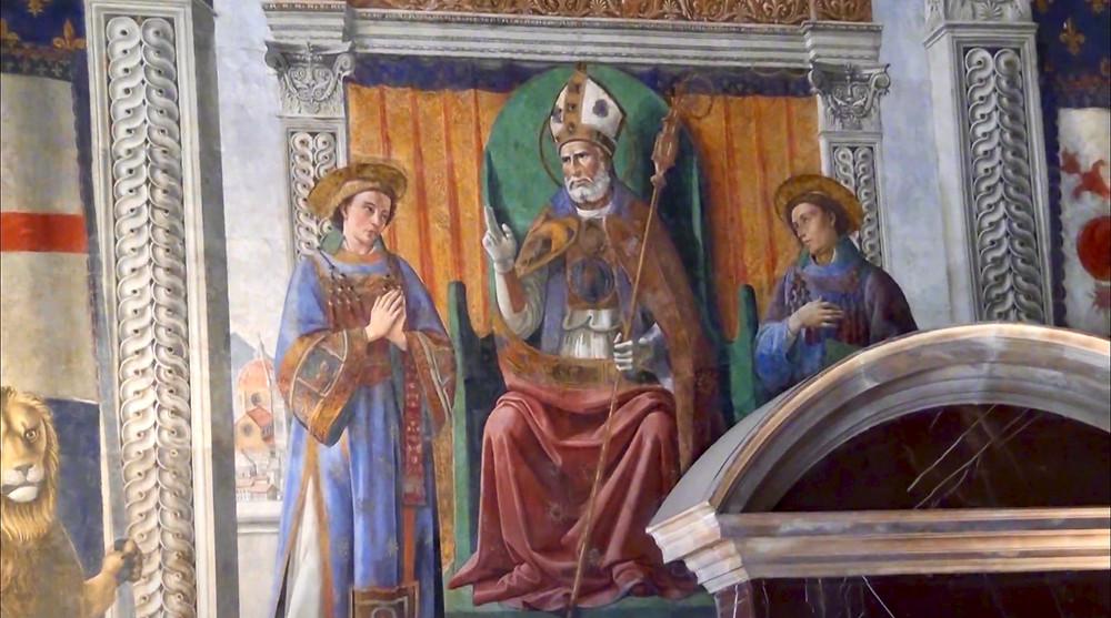 fresco of St. Zenobius by Ghirlandaio, 1482-85, in the Palazzo Vecchio