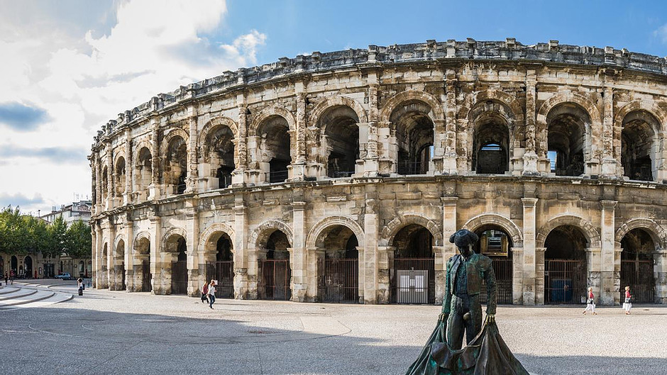 the Roman Arena in Arles, a must see landmark in Provence