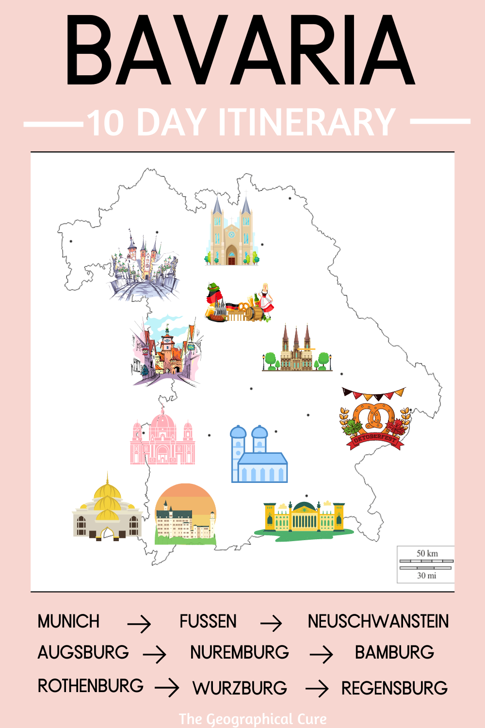 "bavaria Germany"" 10 Day Road Trip Itinerary"