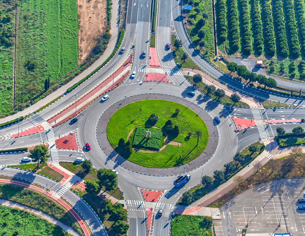 roundabout in Europe