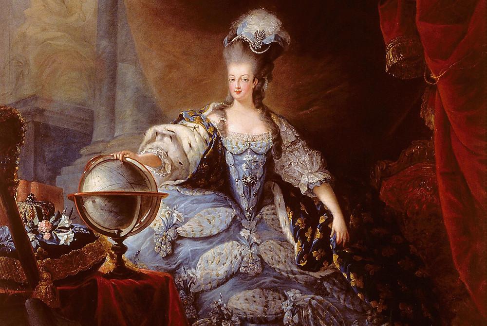 Marie Antoinette by Jean-Baptiste-André Gautier Dagoty,