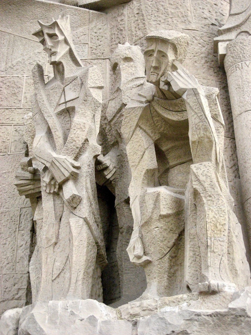 the Passion Facade of Sagrada Família