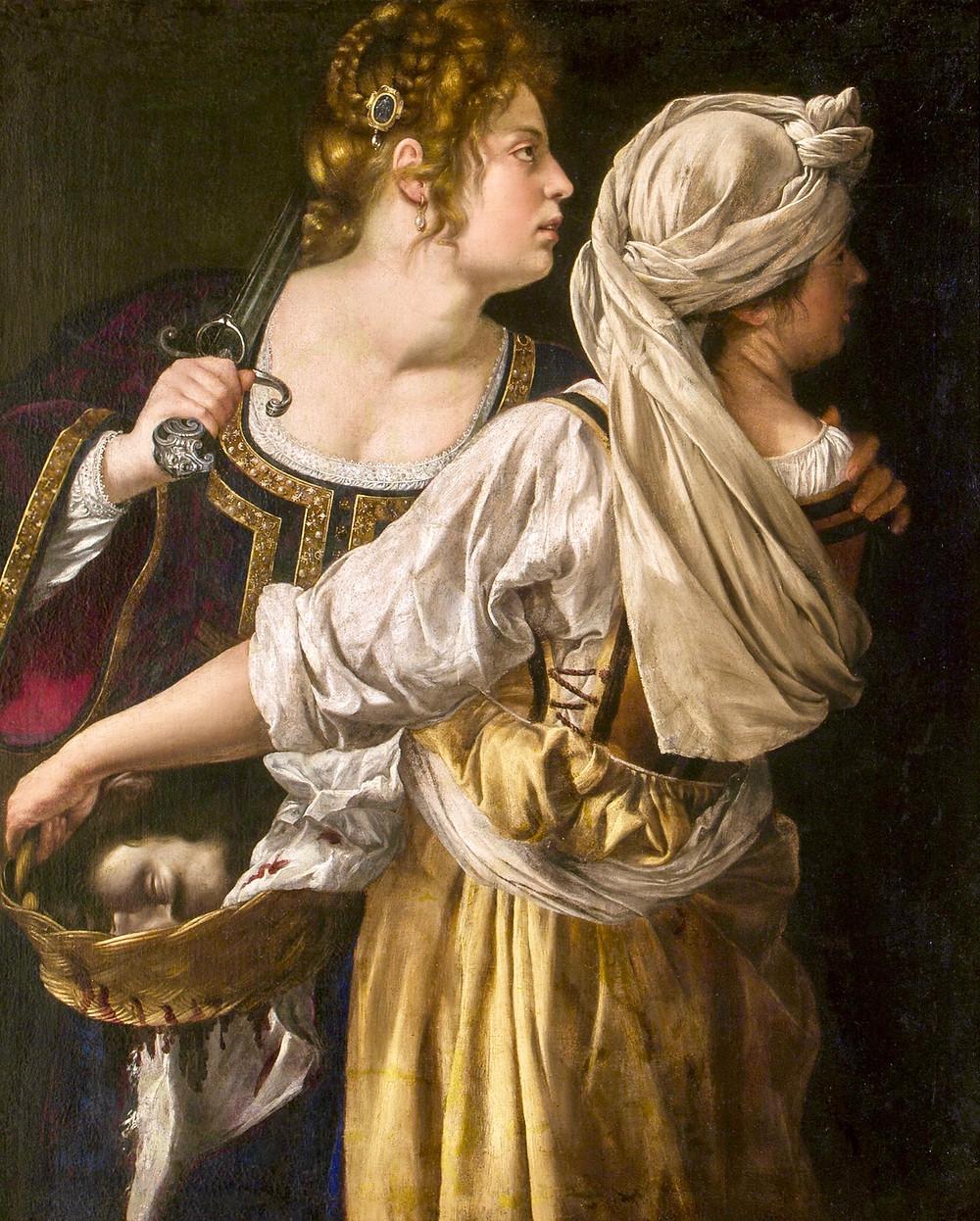 Artemisia Gentilechi, Judith With her Handmaiden, 1615