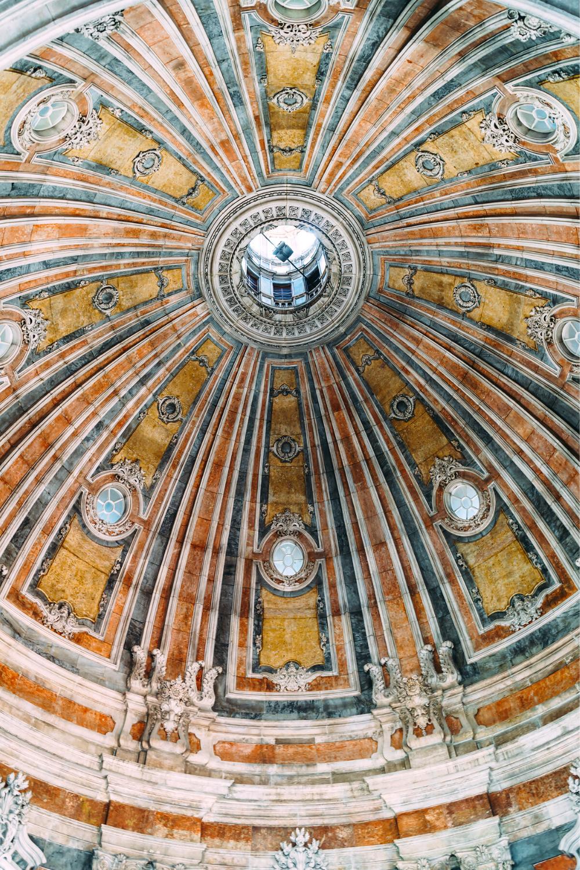 frescos on the dome of the Basilica da Estrela