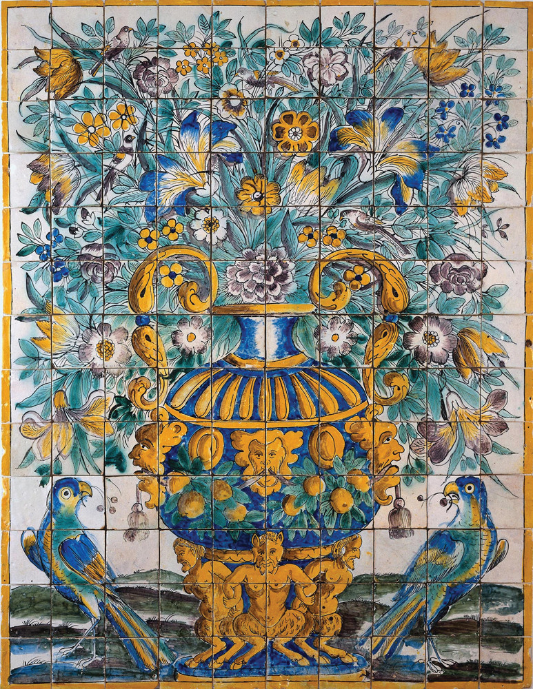 17th century tiles at the Lisbon National Tile Museum