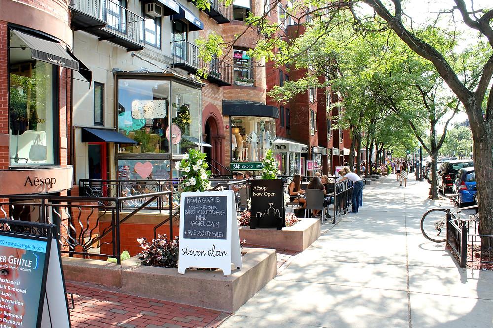 Charles Street, Beacon Hill's main commercial drag