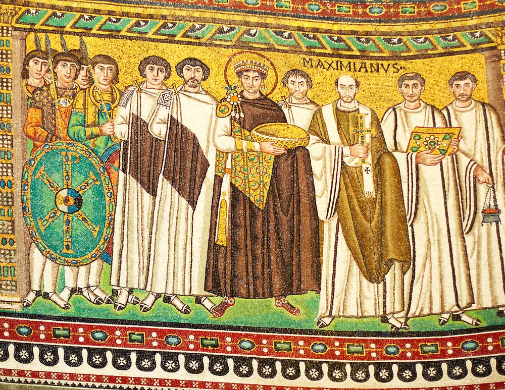 mosaic of Emperor Justinian in San Vitale