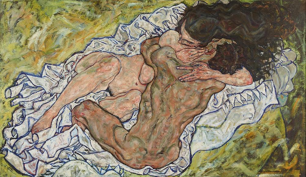 Egon, Schiele, The Embrace (Lovers II), 1917