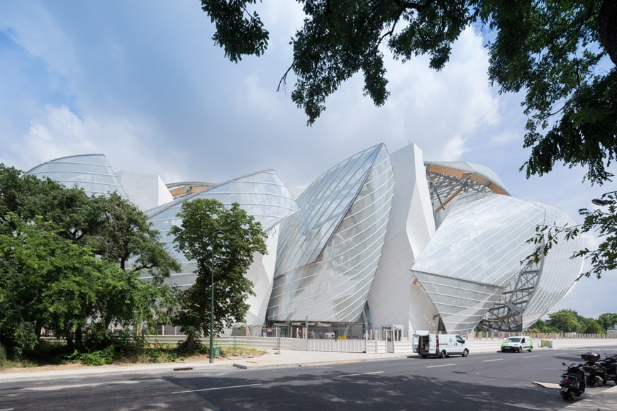 Frank Gehry's Louis Vuitton Foundation, designed to look like a sailing ship