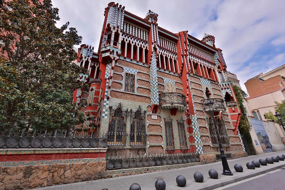 Gaudi's Casa Vicens in Barcelona