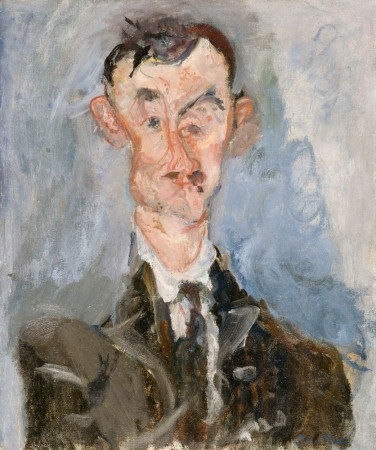 Chaim Soutine, Portrait of a Man, 1922 -- a Soutine portrait imbued with madness and distortion