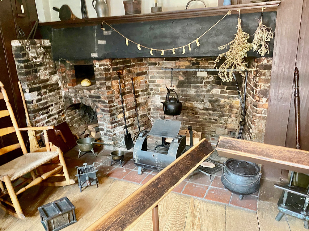 kitchen in the Paul Revere House on the Freedom Trail