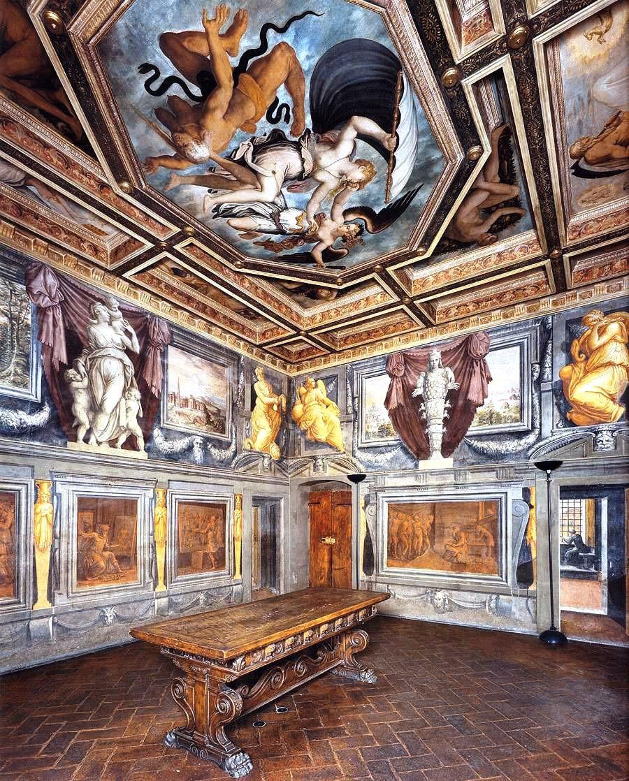 Vasari frescos in his house museum in Arezzo