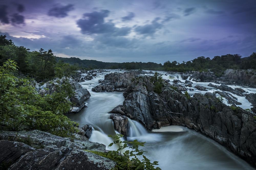 rapids at Great Falls Park