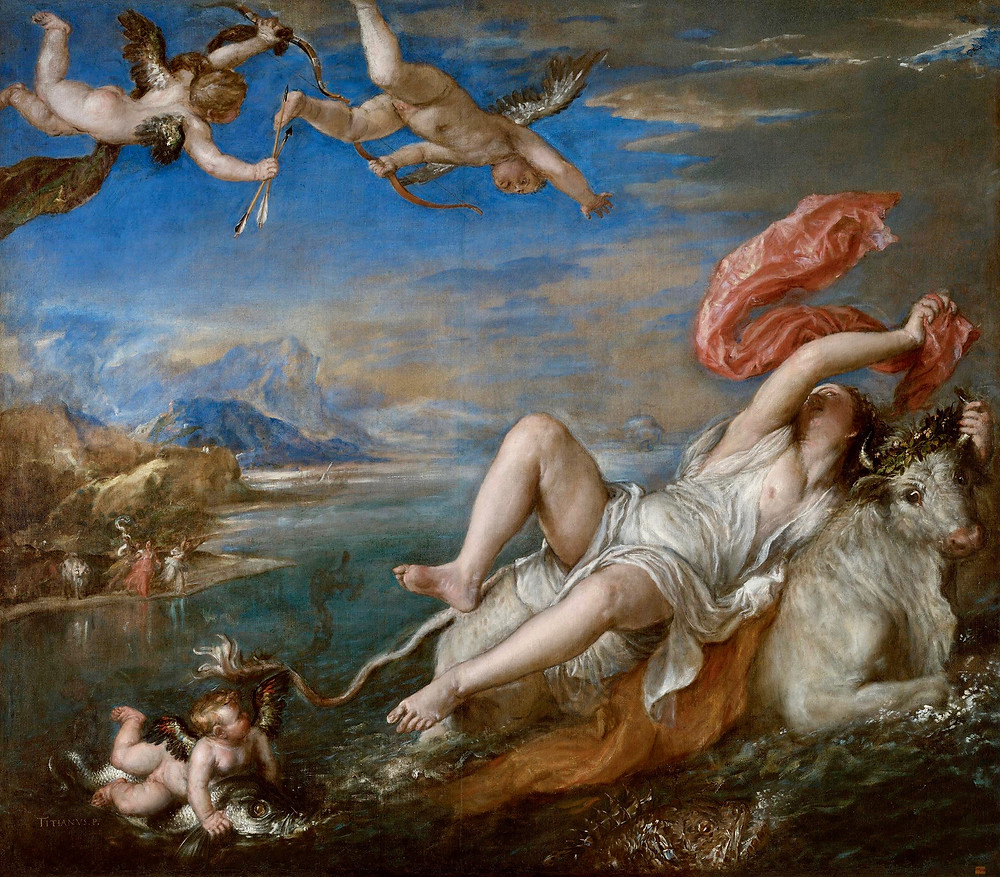 Titan, Rape of Europa, 1562 -- the Gardner's most famous painting