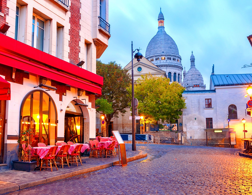 view of Sacre Coeur from Montmartre