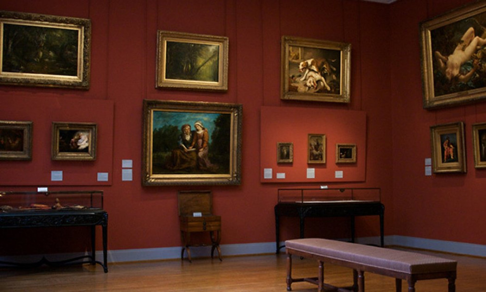 a room in the Delacroix Museum in Paris
