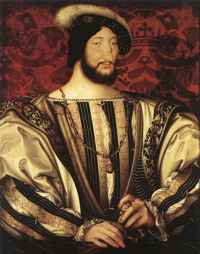 Portrait of Francis I in Paris' Louvre Museum