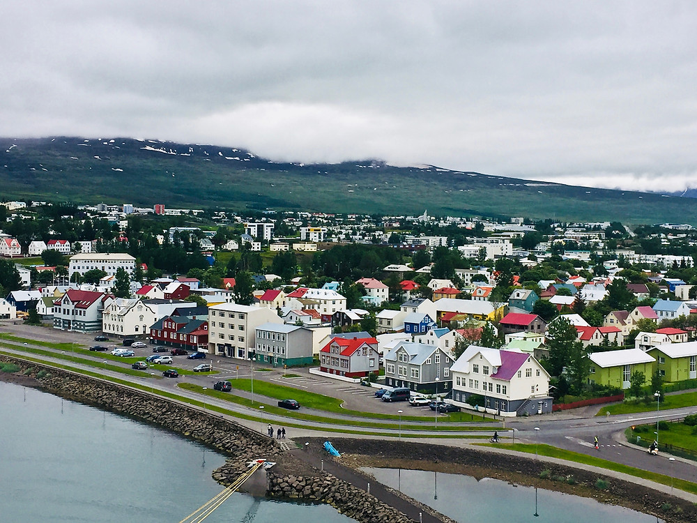 the beautiful town of Akureyri in northern Iceland