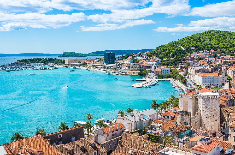 Split panoramic view of town, Dalmatia,