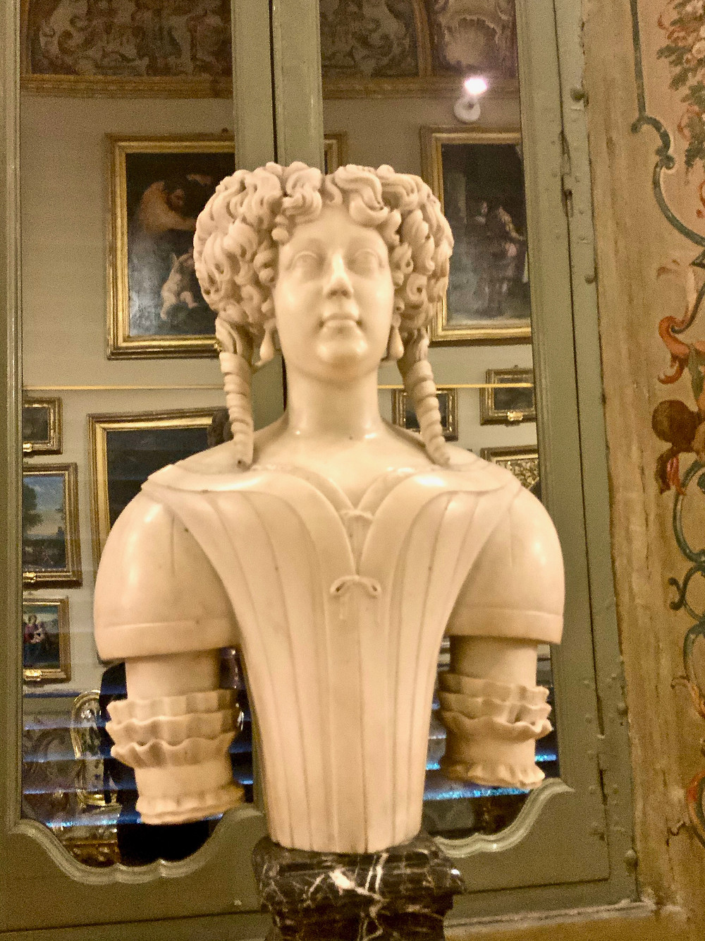 bust of Olympia Doria Pamphilj in the Aldobrandini Gallery
