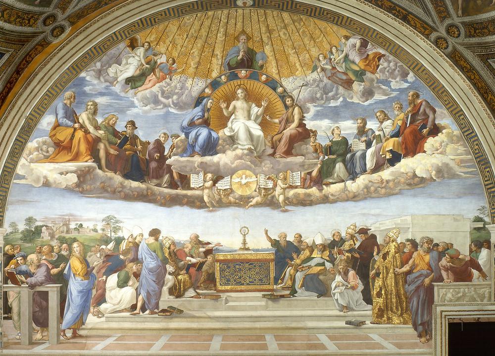Raphael, Disputation over the Holy Sacrament, 1508-11