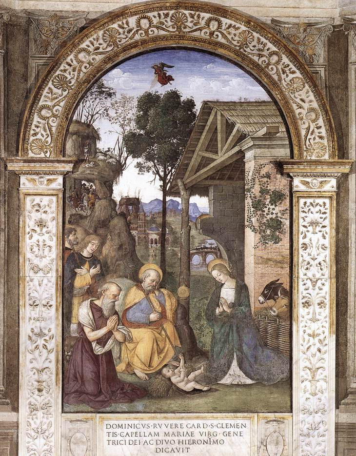 Pinturicchio's painting of Jerome at the Christ Child's Chamber