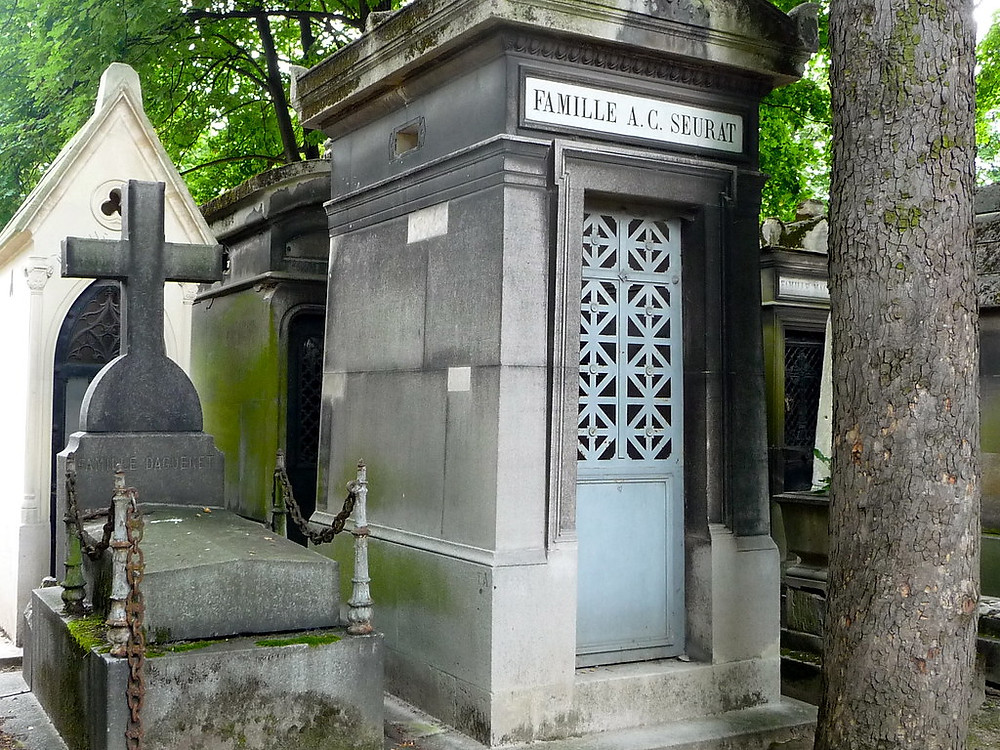 the grave of Georges Seurat, the founder of Pointillism
