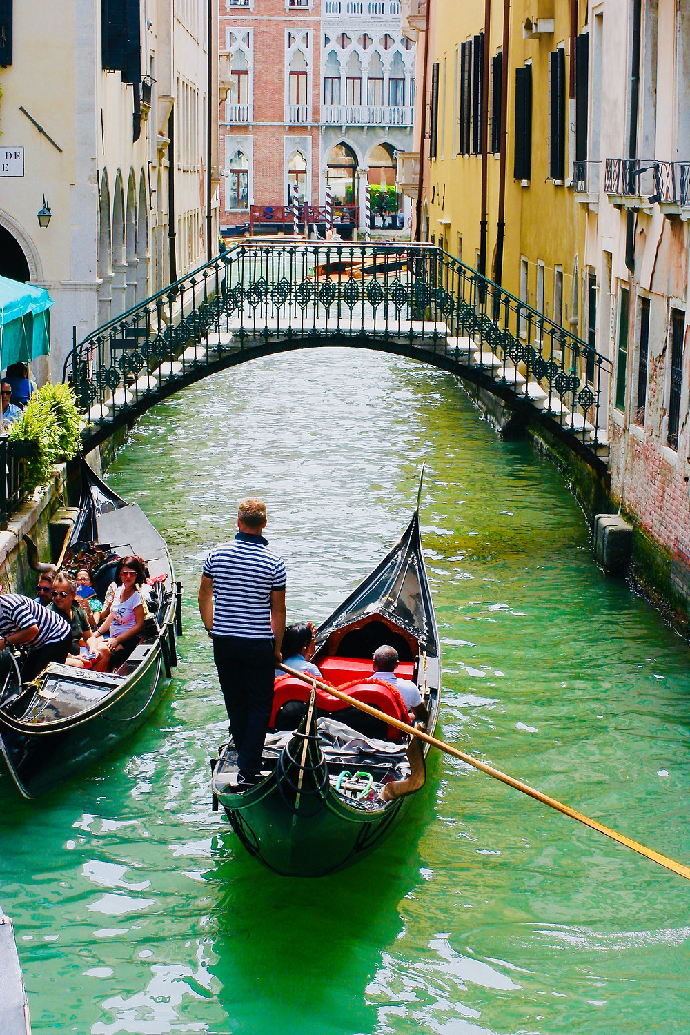 a picturesque but expensive gondola ride in Venice