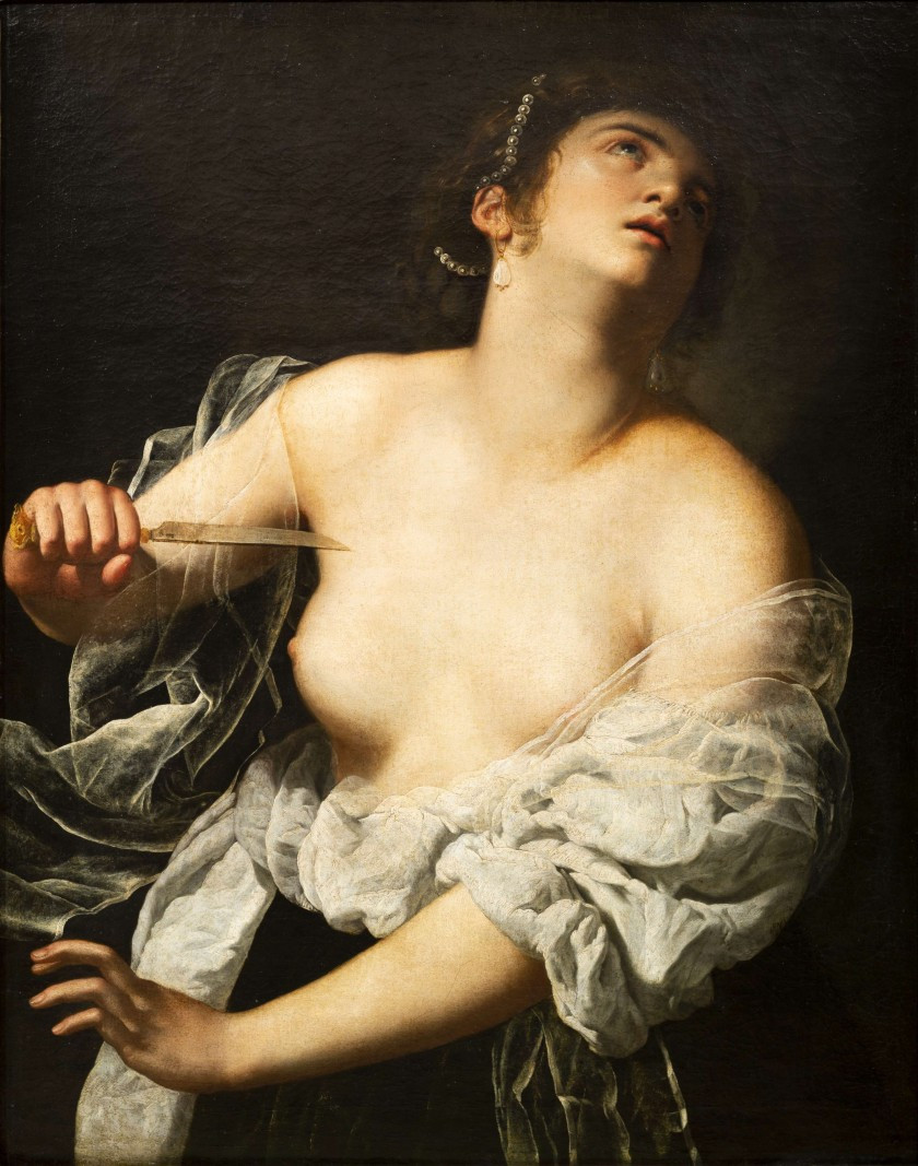 Artemisia Gentileschi, Lucretia, 1630 -- sold for $4.7 million in 2019