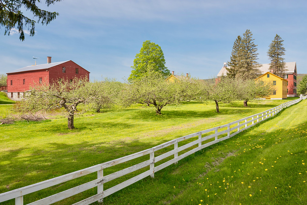 American wooden farms in the Berkshires