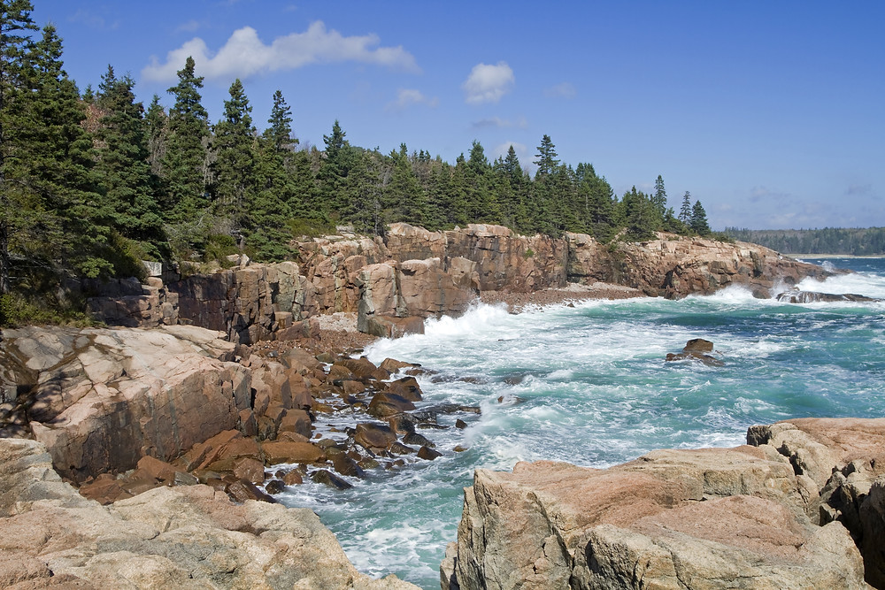 Thunder Hole, a must see site in Maine's Acadia National Park