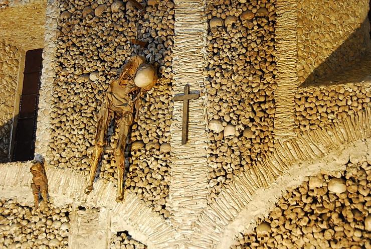 the eerie Chapel of Bones in Evora