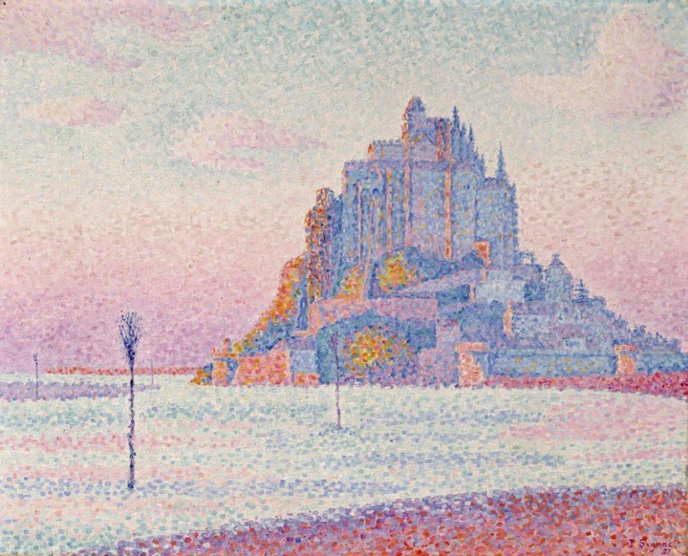 Signac, Mont Saint-Michel, Setting Sun, 1987