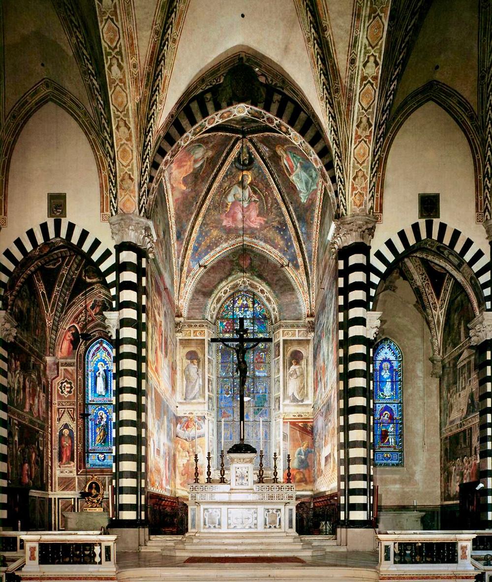 Lippi frescos in the chapel of the Prato Duomo