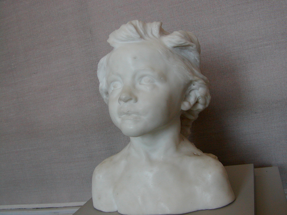 Camille Claudel, Little Châtelaine, 1892-96  -- one of Claudel's best and most iconic marble sculptures