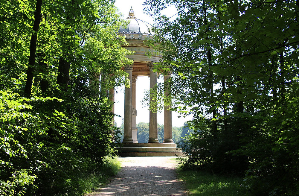 Temple of Apollo in the palace gardens