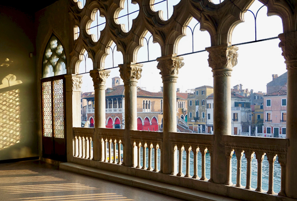 views of the Grand Canal from the loggia of the Ca' d'Oro