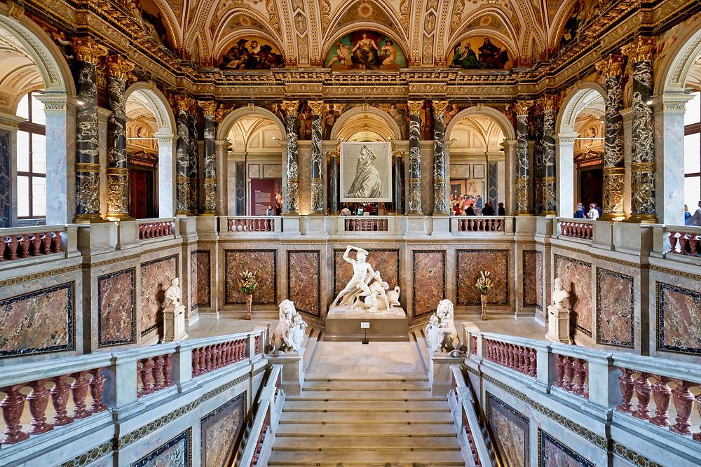 the beautiful interior of the Kunsthistorhisches