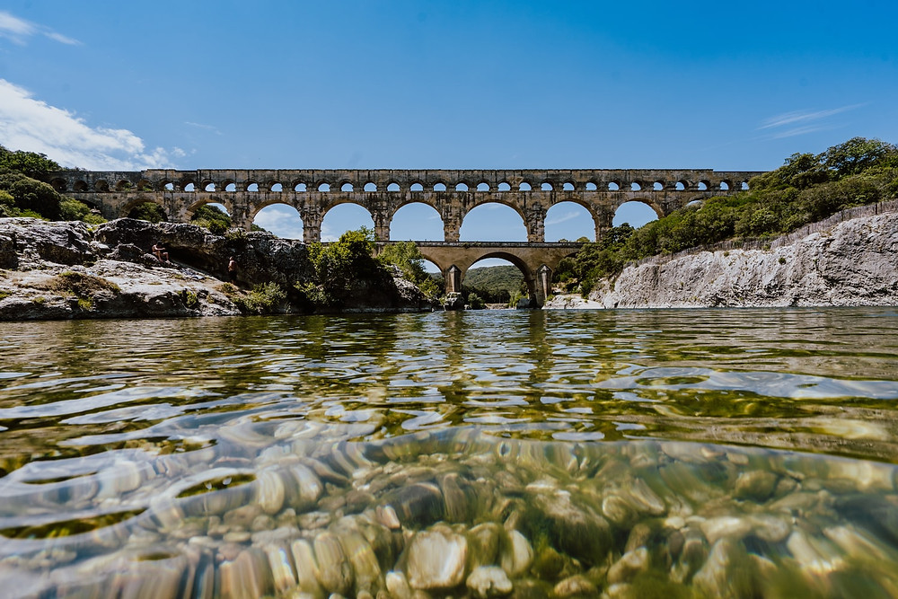 the Roman Aqueduct and UNESCO site, Pont du Gard