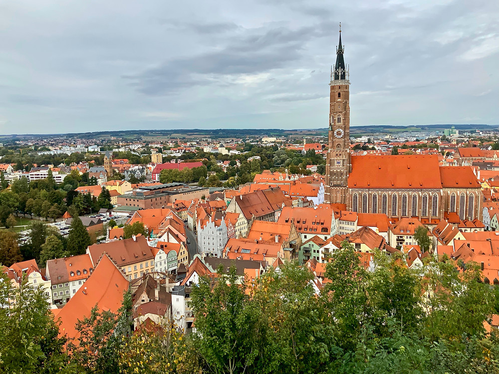 adorable Landshut Germany, nowhere to pee but near the tourist office