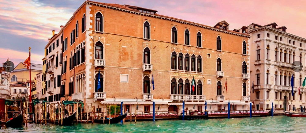 the Gritti Palace along the Grand Canal