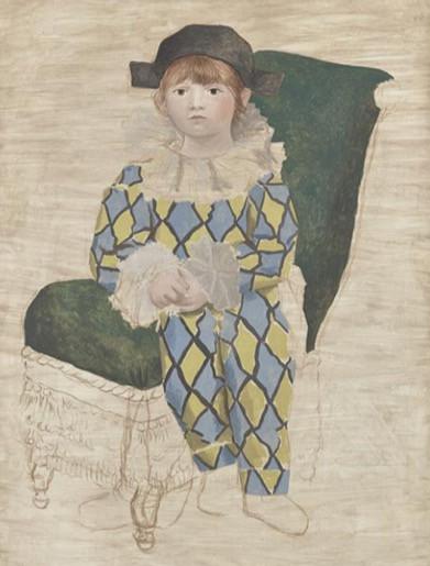 Pablo Picasso, Paul en Arlequin, 1924