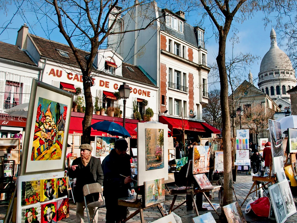 the Place du Tertre in Montmartre