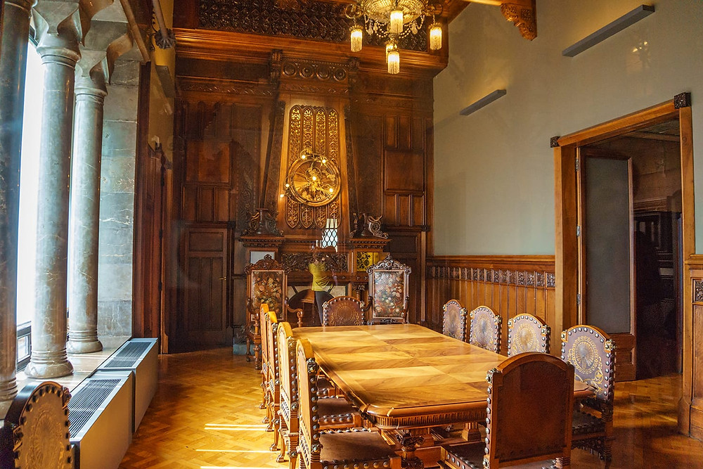 dining room in Palau Guell