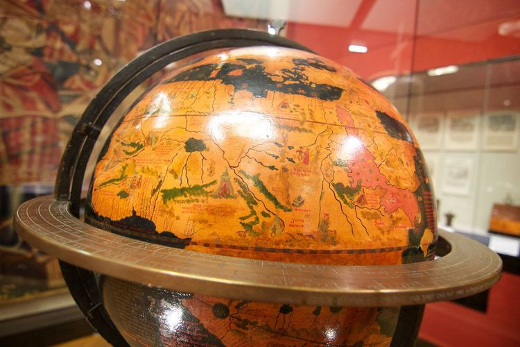 the world's oldest globe, called Earth Apple, with basically one large land mass