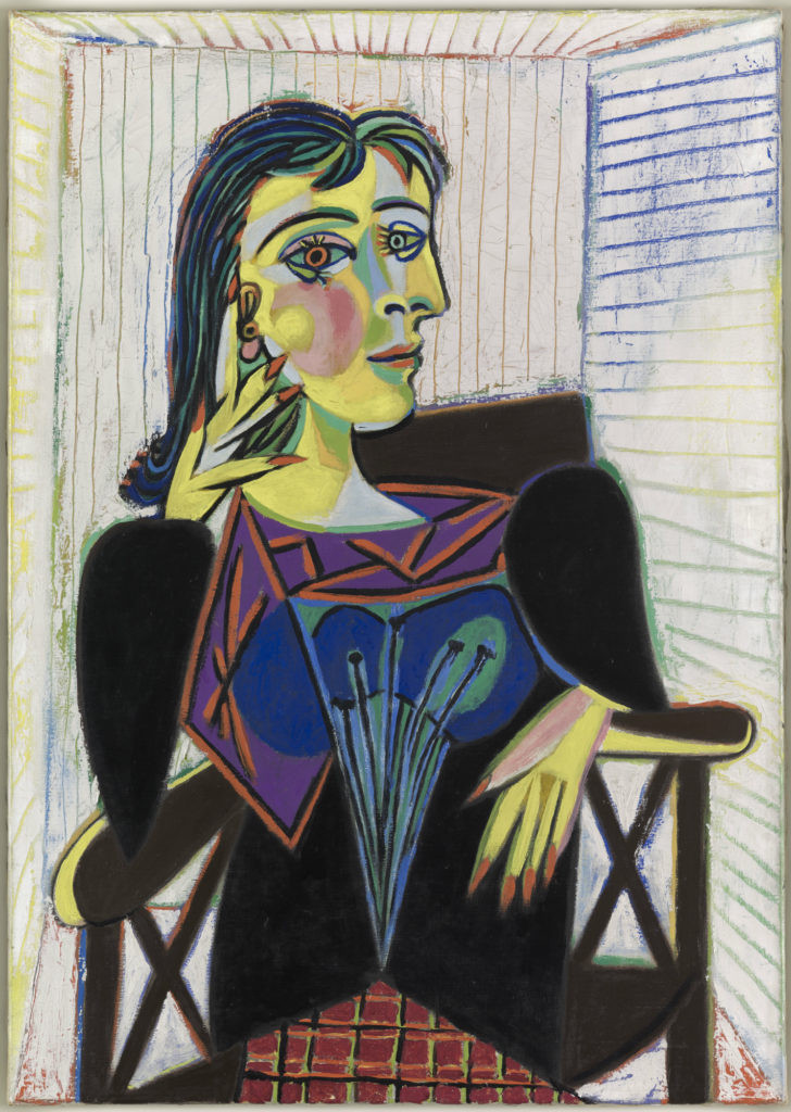 Portrait of Dora Maar, 1937, by Pablo Picasso -- Picasso's mistress during his Surrealist phase