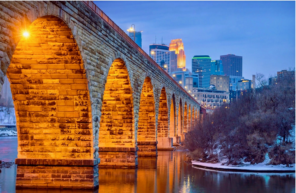 historic Stone Bridge in Minneapolis