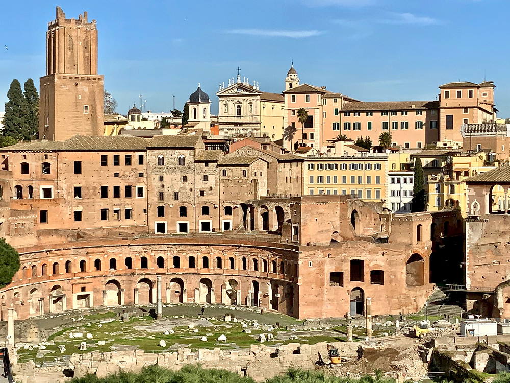 the ruins of Trajan's Market in Rome
