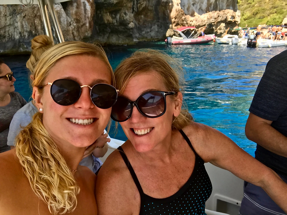 my daughter and I on our island hopping tour